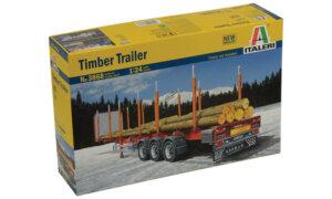 1:24 Scale Italeri Logger Timber Trailer Model Kit  #1449p