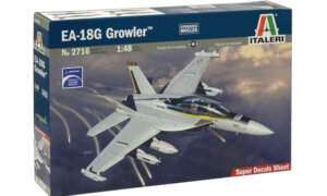 1:48 Scale Italeri E/F 184 Growler Plane Model Kit  #1401