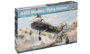 1:48 Scale Italeri H-21 Shawnee Flying Banana Helicopter Model Kit  #1402