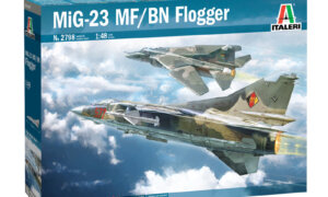 1:48 Scale Italeri MiG 23 MF/BN Flogger Plane Model Kit  #1405