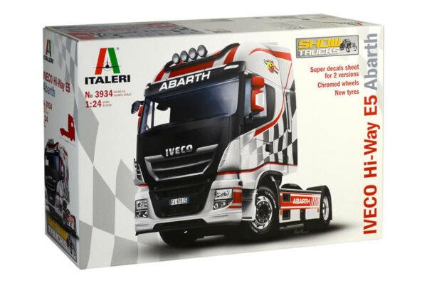 1:24 Scale Italeri Iveco Hi-Way E5 Abarth Truck Model Kit  #1448p