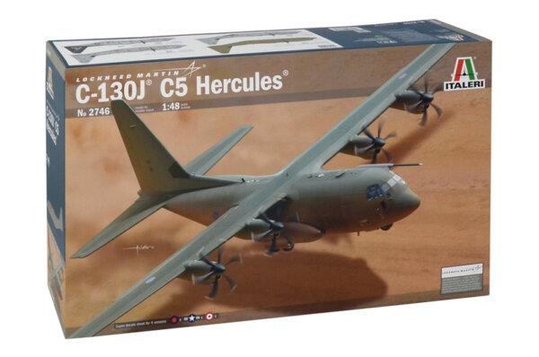 1:48 Scale Italeri RAF Hercules C130J C5 Plane Model Kit  #1403