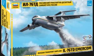 1:144 Scale Zvezda IL-76 TD Russian Ministry Of Emergency Plane Model Kit  #1418