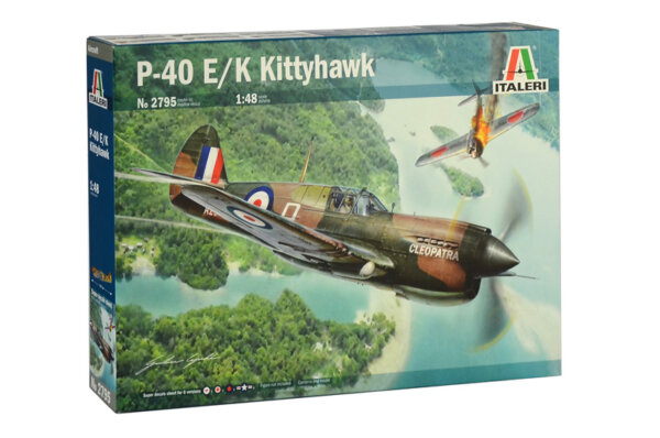 1:48 Scale Italeri RAF P-40 E K Kittyhawk Plane Model Kit  #1404