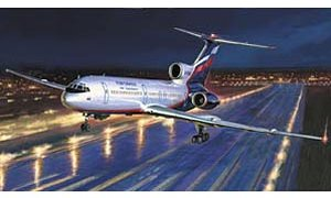 1:144 Scale TU-154M Russian Airliner Plane Model Kit #1412