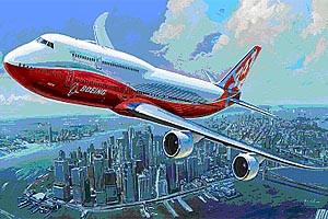 1:144 Scale Zvezda Boeing 747-8 Plane Model Kit #1414