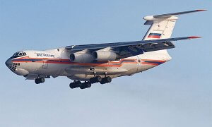 1:144 Scale Zvezda IL-76 TD Russian Ministry Of Emergency Plane Model Kit #1418