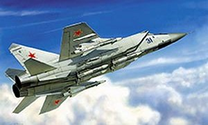 1:72 Scale MIG-31 Soviet Fighter Interceptor Plane Model Kit #1419