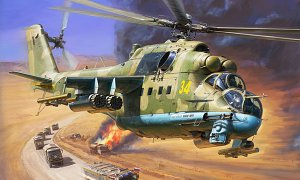 1:72 Scale MIL MI-24P Hind F Attack Helicopter Model Kit #1422