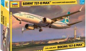 1:144 Scale Zvezda Boeing 737 MAX 8 Plane Model Kit  #1417