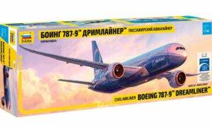 1:144 Scale Zvezda Boeing 787-9 Plane Model Kit  #1416