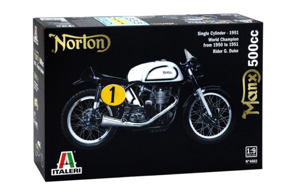1:9 Scale Italeri Norton Manx Classic Motorcycle Model Bike Kit #