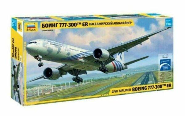 1:144 Scale Zvezda Boeing 777-300ER Plane Model Kit  #1415