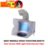 Paint Booth for Spraying/Airbrushing - New Version with Light and Extractor Pipe!