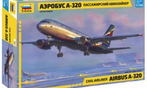 1:144 Scale Zvezda Airbus A-320 Plane Model Kit  #1411