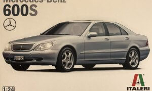1:24 Scale Italeri Mercedes Benz 600S S Class Model Kit #1442P
