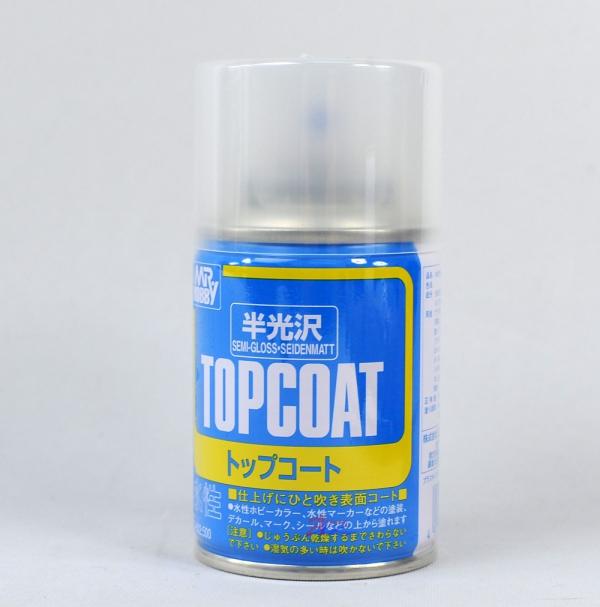 Mr Top Coat Semi Gloss Spray Paint #
