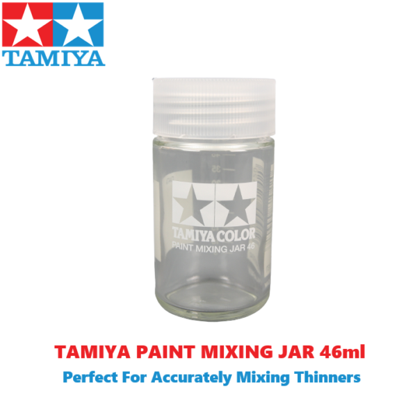 Tamiya Paint Mixing Jar & Side Measurements For Accurate Thinning 46ml size #2125
