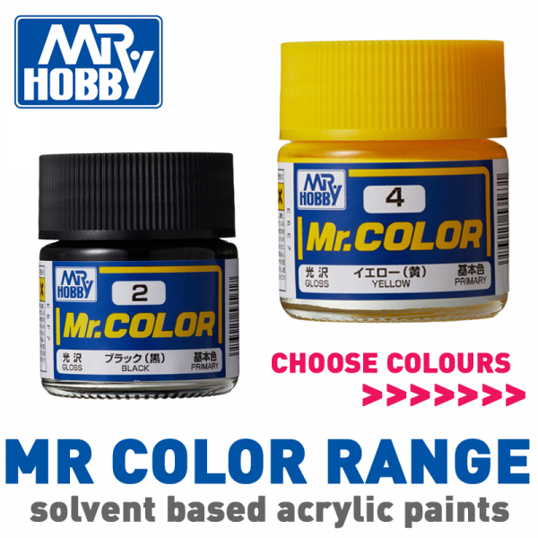 Mr Hobby Mr Color SOLVENT Based Paint 10ml Jars - Choose Colours