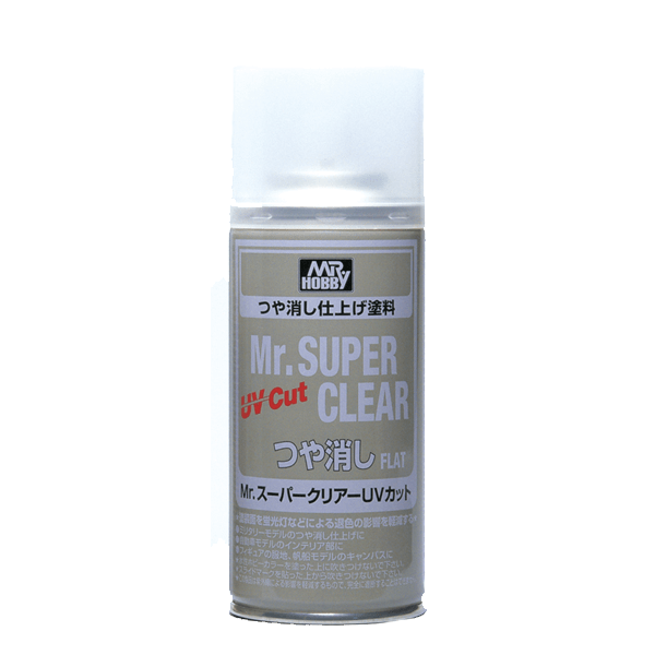Mr Hobby Super Clear UV CUT GLOSS Top Coat Spray Can #