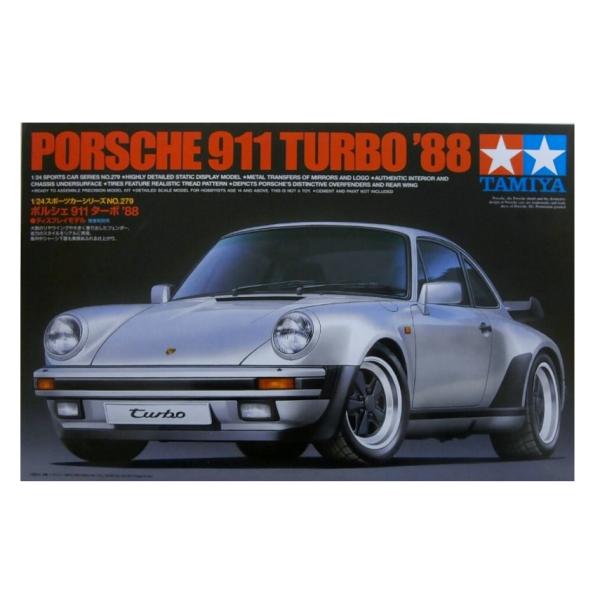 1:24 Scale Tamiya Porsche 911 Turbo 1988 Model Car Kit by Tamiya #1487