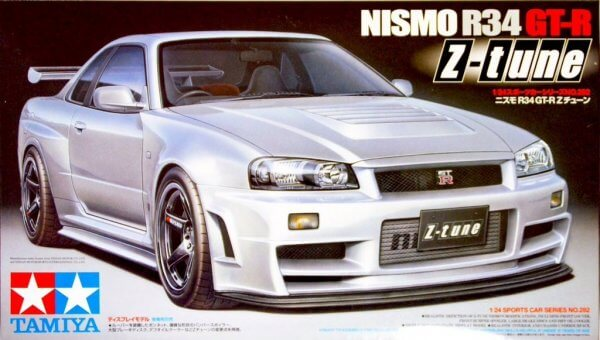 1:24 Scale Tamiya Nissan Skyline R34 Z Tune GTR Model Car Kit by Tamiya #1488p