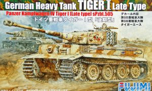 1:76 Scale Fujimi Tiger Type 1 Latter Type Tank Model Kit #