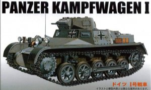 1:76 Scale Fujimi German Panzer Kampf Wagen 1 Tank Model Kit #