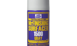Mr Hobby Finishing Surfacer 1500 Primer Spray Can Grey #