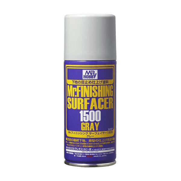 Mr Hobby Finishing Surfacer 1500 Primer Spray Can Grey #