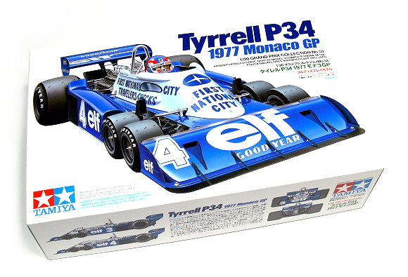 1:20 Scale Tyrrell P34 F1 Monaco 77' 6 Wheel F1 Model Car Kit #