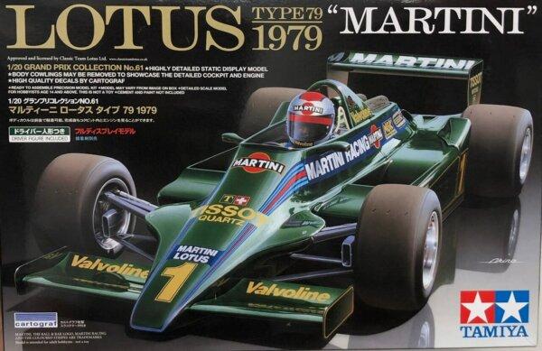 1:20 Scale Tamiya Lotus Martini Type 79 Model Kit #