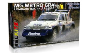 1:24 Scale Belkits MG Metro 6R4 Lombard Rally Car Model Kit#