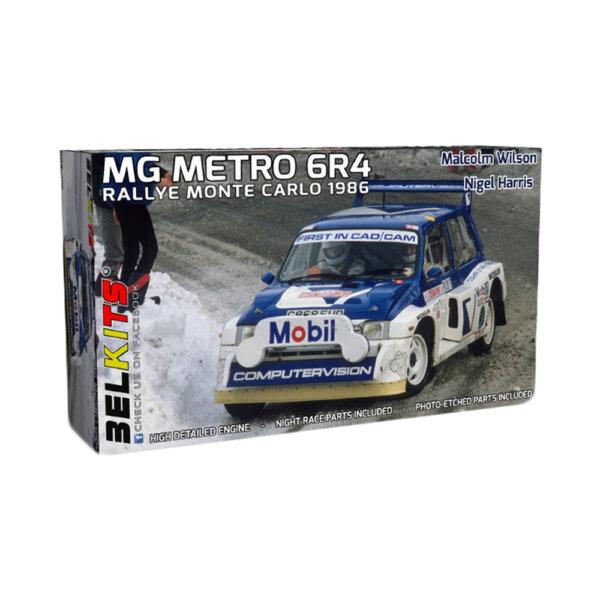 1:24 Scale Belkits MG Metro 6R4 Monte Carlo Rally Car Model Kit#