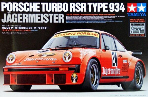 1:24 Scale Tamiya Porsche 934 911 Jaegermeister Model Car Kit #1502