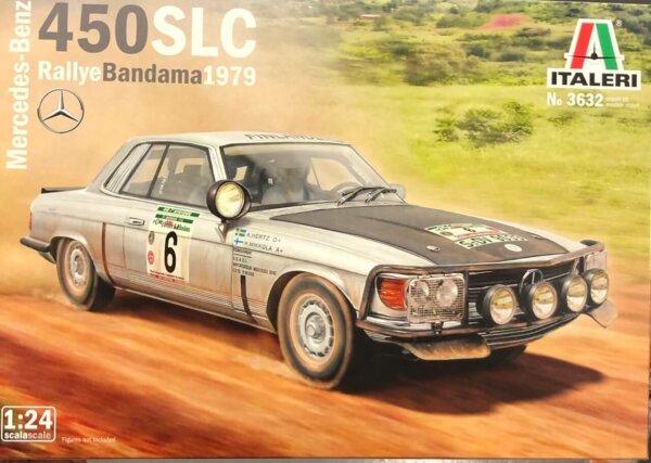 1:24 Scale Italeri Mercedes 450 SLC Rally Bandama 1979 Model Car Kit #