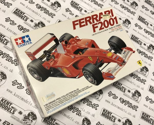 1:20 Scale Tamiya Ferrari F1-2001 Vintage Retro NOS Model Car Kit #IG16