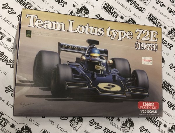 1:20 Scale Ebbro Team Lotus 72E F1 Vintage NOS Model Car Kit #  IG08