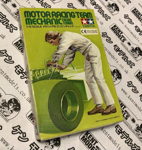 1:20 Scale Tamiya Vintage Motor Racing Team Mechanic - Engine Tuning NOS #IG01