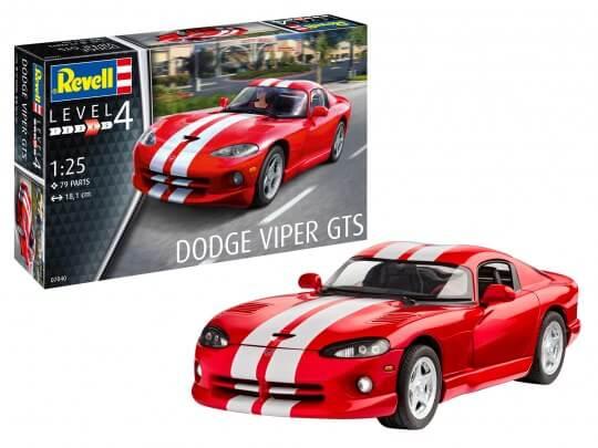 1:25 Scale Revell Dodge Viper GTS Model Car Kit #1546