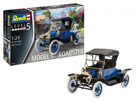 1:24 Scale Revell Ford Model T Roadster 1913 Model Car Kit #1548