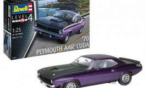 1:25 Scale Revell Plymouth 1970 AAR Cuda Model Car Kit #1550