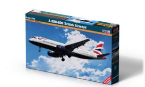 1:125 Mister Hobby Kit British Airways A320-200 Aircraft Model Kit #1558