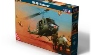 1:72 Mister Hobby Kits UH-1D Medivac Helicopter Model Kit #1566