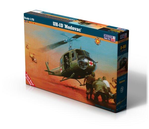1:72 Mister Hobby Kits UH-1D Medivac Helicopter Model Kit #1566