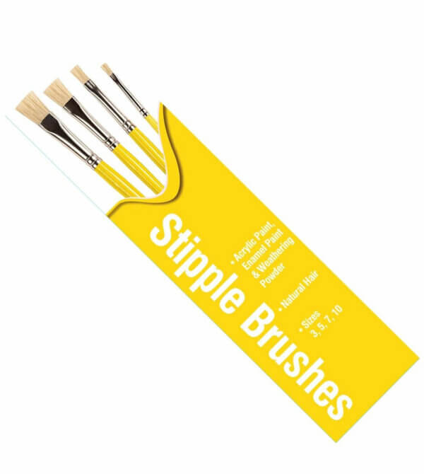 Humbrol Stipple Yellow Brush Pack For Use With All Paints #1551