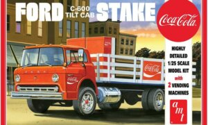 1:25 AMT Ford C600 Coca Cola Stake Bed Model Truck Kit #1552