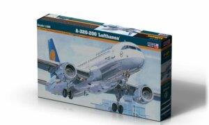 1:125 Mister Hobby Kit Lufthansa A320-200 Aircraft Model Kit #1559