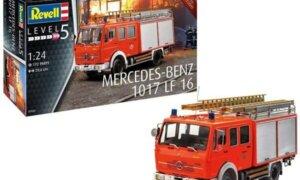 1:24 Scale Revell Mercedes 1017 LF 16 Fire Engine Truck Model Kit #1636