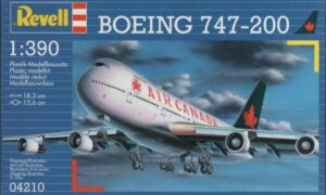 1:390 Scale Revell Boeing 747-200 Model Kit #1653